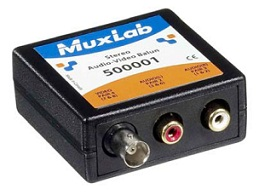 Muxlab Stereo Audio-Video Balun